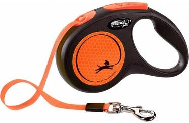 Siksna Flexi New Neon Tape S, melna/oranža, 5 m