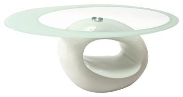 Kafijas galdiņš Signal Meble Etna White Lacquer, 1100x600x420 mm