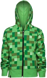 Jinx Minecraft Creeper No Face Premium Zip-Up Hoodie Green M
