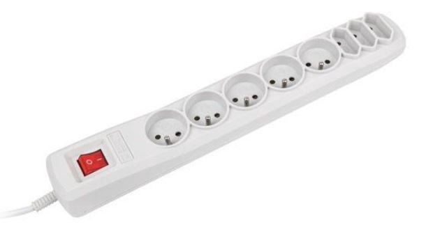 Natec Surge Protector 8 Outlet Grey 3m