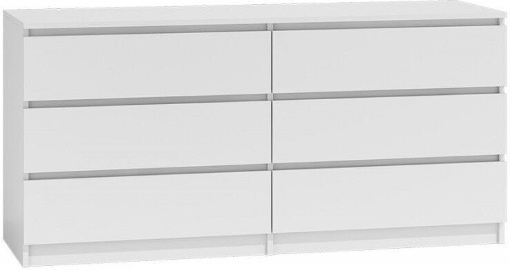 Комод Top E Shop Malwa M6, белый, 138x40x77 см