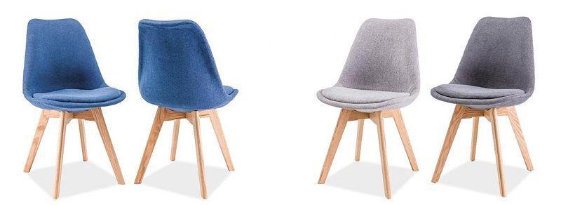 Ēdamistabas krēsls Signal Meble Dior Dior Buk Dark Gray, 1 gab.
