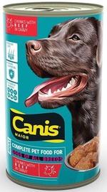 Mitrā suņu barība (konservi) Canis Major Dog Food Beef In Gravy 1.25kg