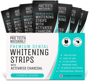 Pro Teeth Whitening Strips With Activated Charcoal 28pcs