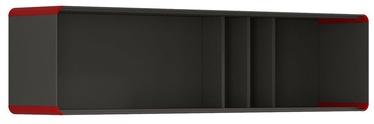 Black Red White Possi Light Cupboard 160x40cm Gray Tungsten/Red