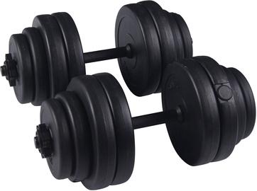 Сборные гантели SportVida Adjustable 6 Disc Dumbbell Set Black 2x15kg
