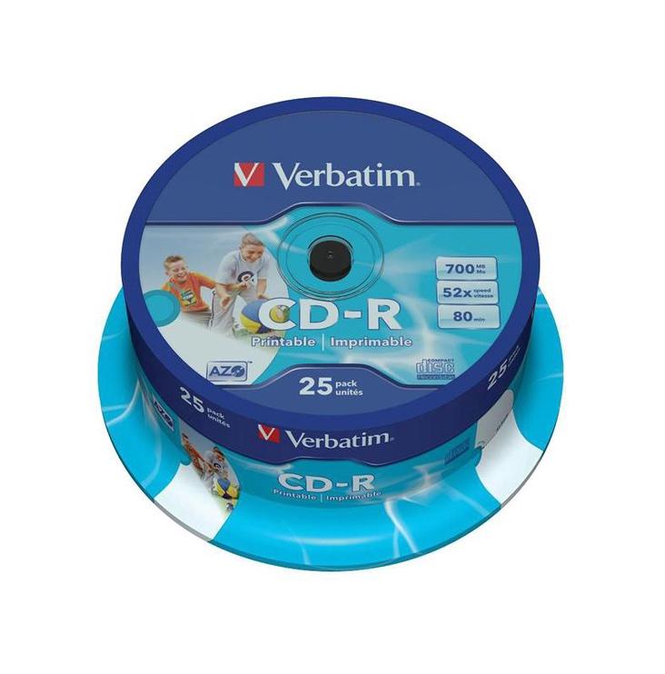 DISKI CD+R 700 MB 52X EXTRA PROTECTION CAKE*25 (VERBATIM)