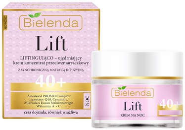 Bielenda Lift Lifting Firming Cream Concentrate Anti Wrinkle 40+ Night 50ml