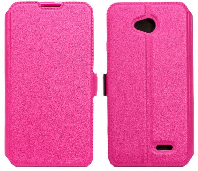 Telone Super Slim Shine Book Case Samsung J100H Galaxy J1 Pink