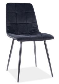 Ēdamistabas krēsls Signal Meble Modern Mila Velvet, melna