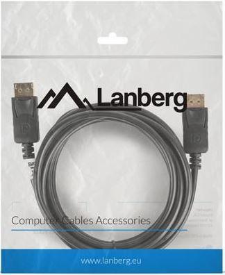 Lanberg Cable DisplayPort / DisplayPort Black 3m