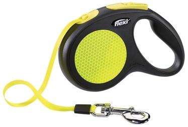 Поводок Flexi New Classic Neon, черный/желтый, 3 м