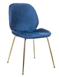 Стул для столовой Signal Meble Adrien Dark Blue/Gold, 1 шт.