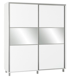 Skapis Bodzio SZP180 White, 180x60x210 cm, with mirror