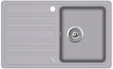 Aquasanita SQ101-202AW Kitchen Sink Metallic 765x460mm