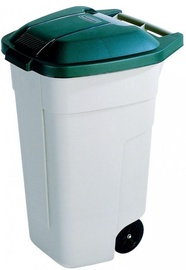 Уличный мусорный бак Curver, зеленый/кремовый/песочный, 110 л