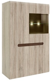 Шкаф-витрина Black Red White Azteca Trio SFK1W1D San Remo Oak, 90x41x145 см