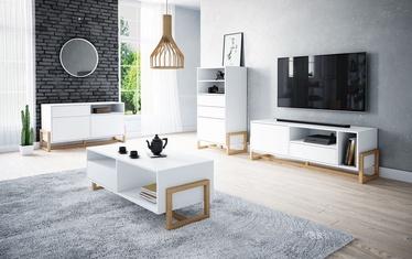 Комплект мебели для гостиной Vivaldi Meble Oslo Set White/Beech Wood