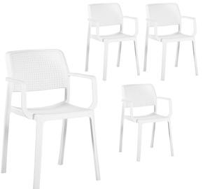 Ēdamistabas krēsls Home4you Pipa White