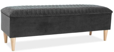 Pufs Signal Meble Azurro Dark Grey, 129x40x45 cm