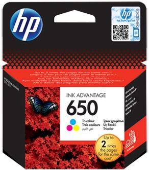 HP 650 Tri-Color C/M/Y