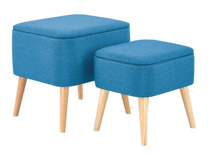 Pufs Halmar Pula Blue, 49x43x46 cm