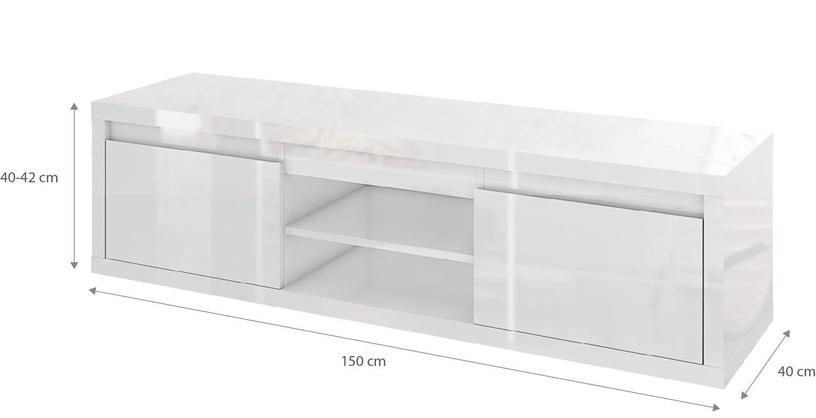ТВ стол Tuckano Glance, белый, 1500x400x420 мм