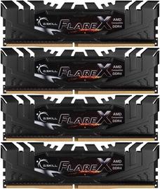 G.SKILL Flare X for AMD 64GB 3200MHz CL16 DDR4 Black KIT OF 4 F4-3200C16Q-64GFX
