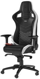 Noblechairs EPIC Real Leather Black/White/Red