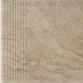 Paradyz Ceramika Clinker Tiles Unite Brown With Stripes 30x30cm