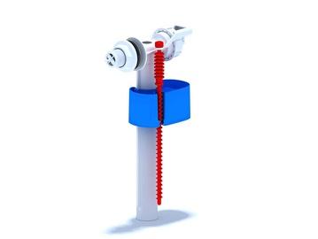 """Tualetes poda tvertnes iepildīšanas mehānisms Aniplast WC5050 1/2"""", no sāna"""