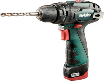 Metabo PowerMaxx SB Basic Impact Drill + 2x 10.8V 2Ah Batteries