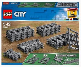 Конструктор LEGO City Рельсы 60205, 20 шт.