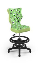 Bērnu krēsls Entelo Petit ST29, melna/zaļa, 350 mm x 950 mm