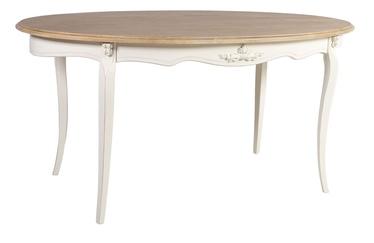 Pusdienu galds Home4you Elizabeth Antique White/Brown, 1600x900x770 mm
