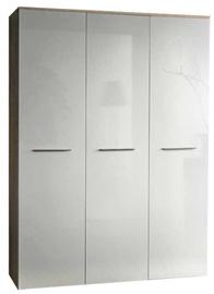Skapis ASM Big Sonoma Oak/White, 135x55x190 cm