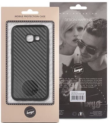 Beeyo Carbon Back Case For Samsung Galaxy S7 Edge Black