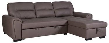 Stūra dīvāns Home4you Almira UC 42801 Taupe, 251 x 162 x 93 cm