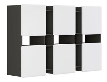 Black Red White Possi Light SFW6D 180x115x42cm Grey/White