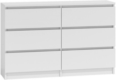 Top E Shop Malwa M6 Chest of 6 Drawers 120cm White