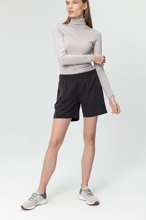 Audimas Womens Stretch Fabric Shorts Black L