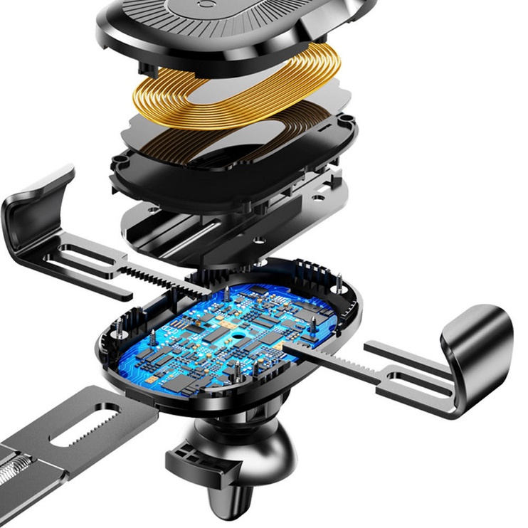Baseus Gravity Car Holder With Qi Charger Black
