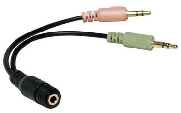 LogiLink Adapter 3.5mm / 3,5mm x 2