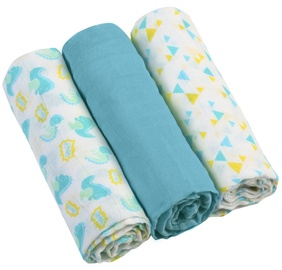 BabyOno Muslin Diapers Super Soft Blue 3pcs