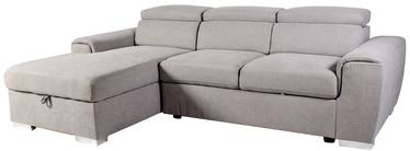 Stūra dīvāns Home4you Elba LC 28516 Light Grey, 260 x 163 x 82 cm