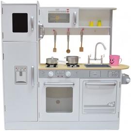 Lomu spēle (virtuve, ārsta komplekti, spēļu teltis utt.) 4IQ Nida Universal Wooden Kitchen White