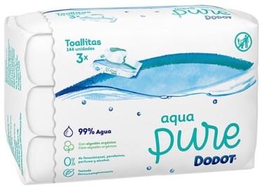 Mitrās salvetes Dodot Aqua Pure, 144 gab.