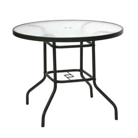 Садовый стол Home4you Dublin 11872, прозрачный/коричневый, 92 x 92 x 71 см