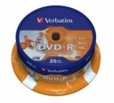 Verbatim DVD-R Datalife 4.7Gb 16x Spindle 25pcs