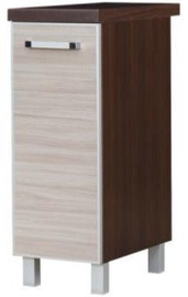 Virtuves skapītis Bodzio Cargo Ola 30 Lower Latte/Walnut, 300x520x860 mm